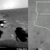 Recorriendo 41,8 km de la superficie en Marte en Rover en solo 26 segundos