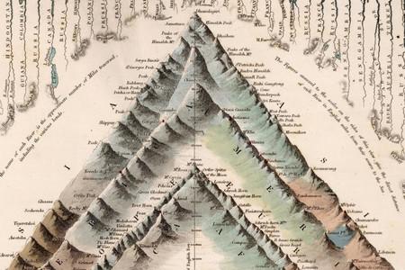 La altura de los montañas más imponentes del planeta, comparada en esta elegante ilustración de 1832
