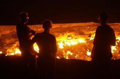 Un infierno en llamas en Turkmenistán