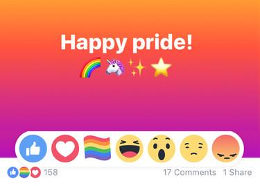"""""""Me gusta"""", """"me encanta"""", """"me asombra""""... y ahora """"me enorgullece"""". El Orgullo LGTB llega a tus redes sociales"""