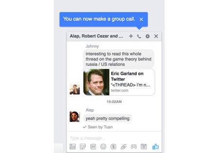 Facebook Group Voice Calling