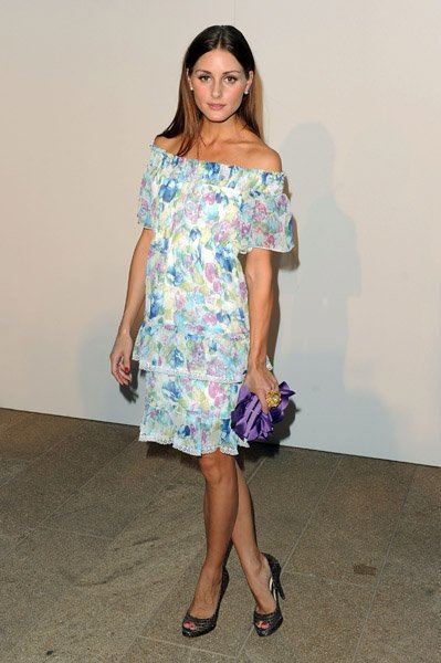 Olivia Palermo vestida de flores
