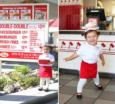 Impresionantes fotos de un bebé caracterizado como personajes famosos