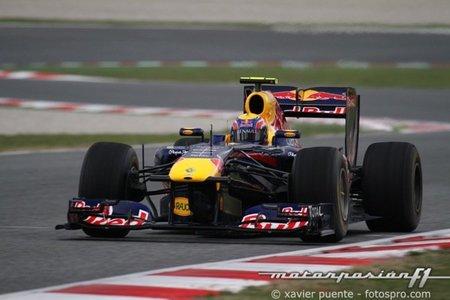 Mark Webber, el más rápido en el primer día de tests en Montmeló