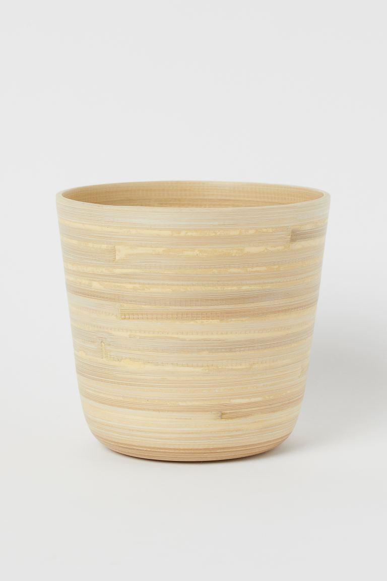 Maceta de bambú