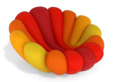 Anemone armchair, un toque de color en el salón