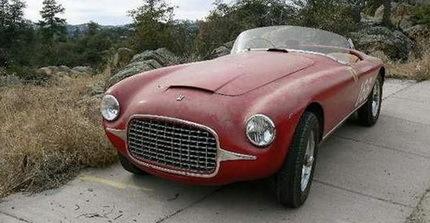 El primer Ferrari de competición que se construyó se expondrá en California