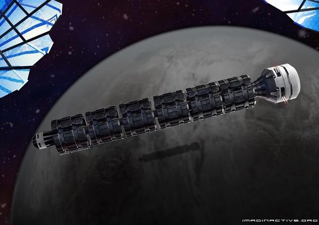 Este tren se movería a 3.000 km por segundo y alcanzaría Marte en 37 horas