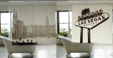 Cortinas de ducha con paisajes