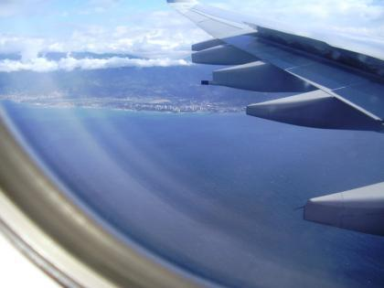 Qué vemos desde la ventanilla del avión