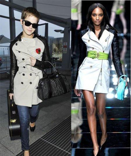 Las celebrities lucen el trench de Burberrys, pero me quedo con el de Emma Watson