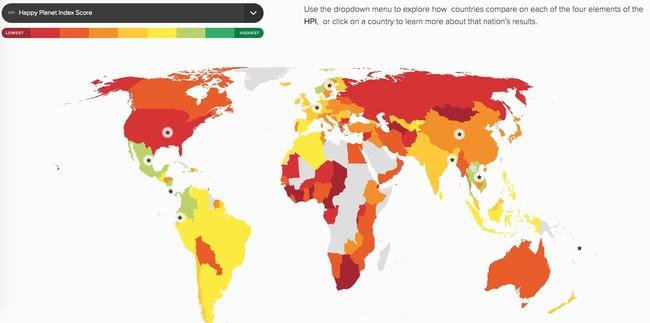 Window Y Happy Planet Index