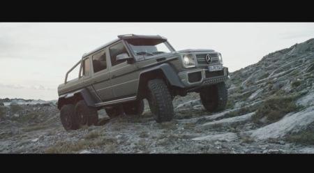 Mercedes Benz G63 AMG 6x6 en las montañas de la Toscana