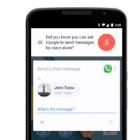 Enviar un WhatsApp sin usar las manos es ahora posible con Google