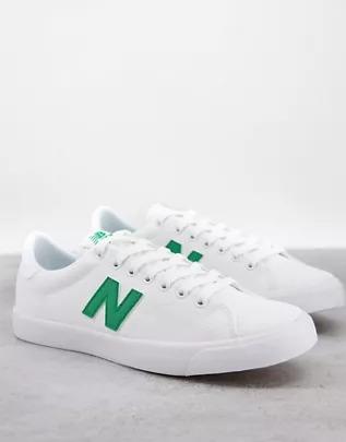 Zapatillas de deporte blancas y verdes 210 de New Balance