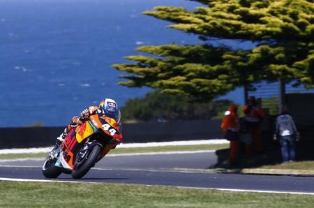 Primera y sensacional victoria de Miguel Oliveira en Moto2 con doble podio para KTM en Phillip Island