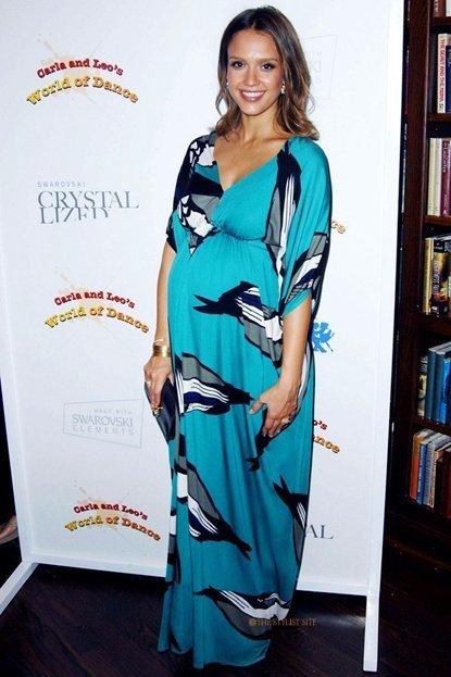 jessica alba vestido embarazada