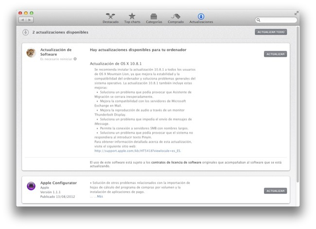 Actualización Mountain Lion