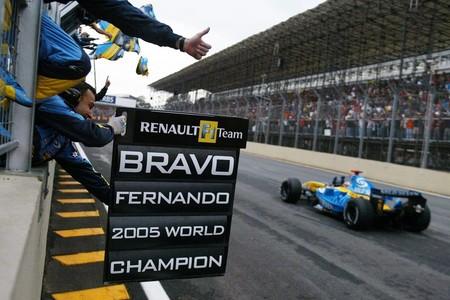 Alonso Interlagos 2005