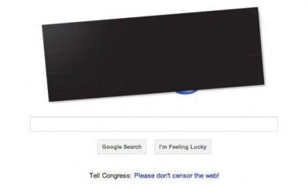 Google se suma a la protesta contra la SOPA