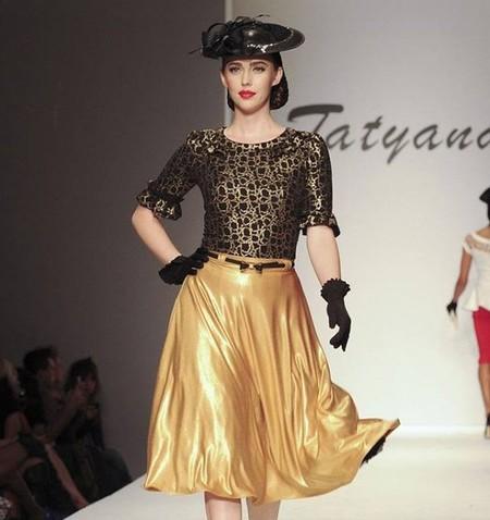 Tatyana Khomyakova, el resurgir del pin up en la Semana de la Moda de Los Ángeles