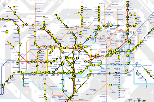 Mapa Londres Comecocos