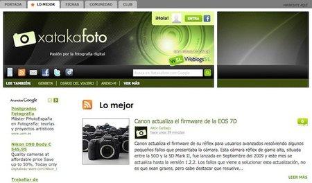 """Nuevas funciones en Xataka Foto: pestaña con """"Lo mejor"""" y más integración con Facebook"""