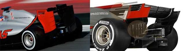 Haas Vf 17, comparación