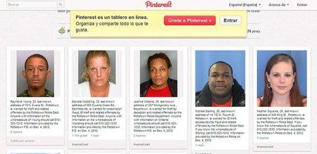 Un nuevo y original uso para Pinterest: muro con las imágenes de los criminales más buscados