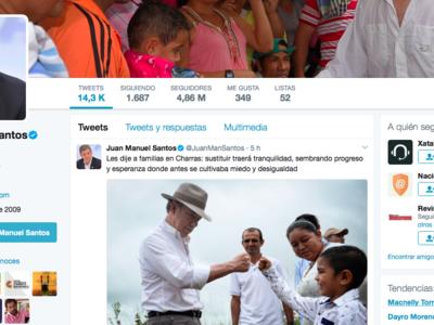 Juan Manuel Santos es el segundo presidente latinoamericano con más seguidores en Twitter, según Twiplomacy