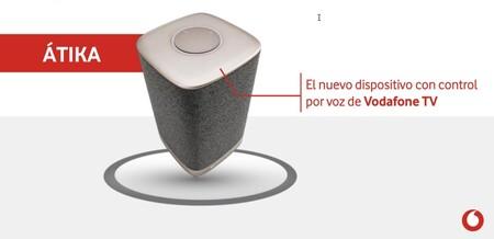 Nuevo Vodafone Átika, un altavoz inteligente con Alexa para controlar el descodificador de Vodafone TV por voz