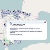 La DGT estrena mapa interactivo para mostrar el estado de las carreteras a tiempo real incluyendo avisos por accidentes y temporal