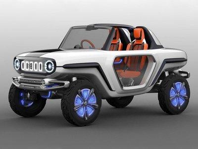 El e-Survivor de Suzuki anticipa el futuro de los SUV: un eléctrico perfecto para un paseo entre dunas