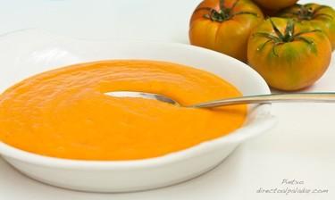 Receta de crema de puerros y tomate