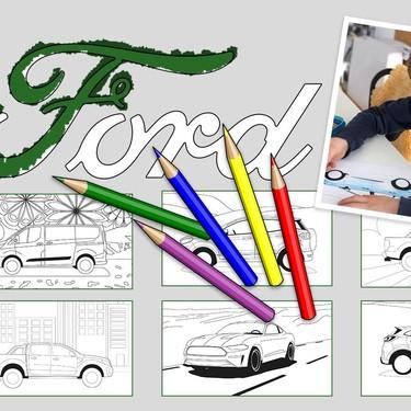¿Tu hijo es fanático de los coches? Ford ha creado un centro de entretenimiento con dibujos de sus modelos para colorear y más actividades