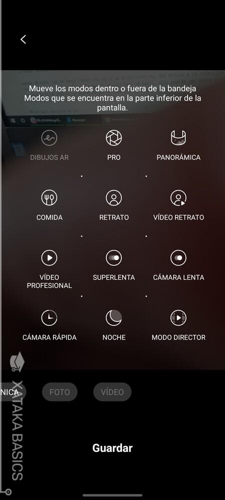 Edita Los Modos De Disparo De La Camara
