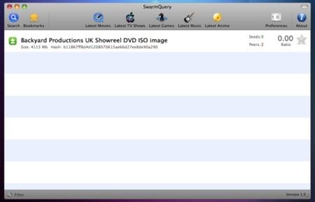 SwarmQuery pequeño buscador de archivos torrent