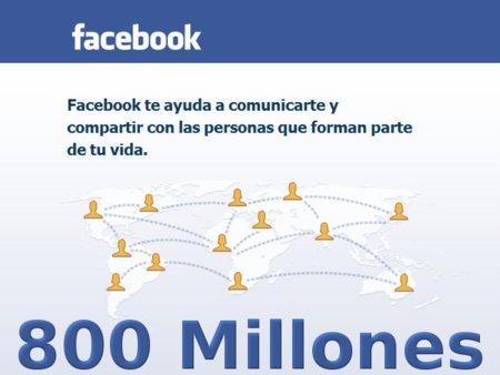 Estadísticas oficiales de Facebook: más de 800 millones de usuarios