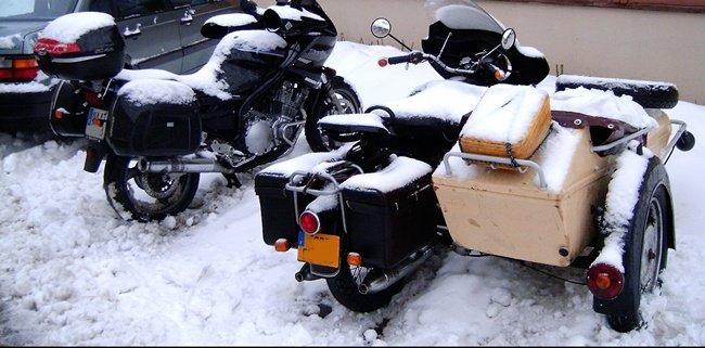Sidecar y moto de Lucas