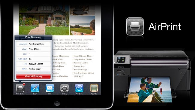 Apple AirPrint iPad