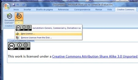 Microsoft ofrece add-on para aplicar licencias Creative Commons a documentos de Office