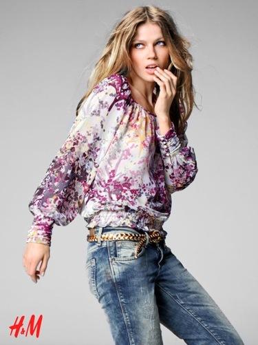 Más looks y tendencias de HM de cara al Otoño-Invierno 2009/2010, con Chanel Iman y Masha Novoselova, floral