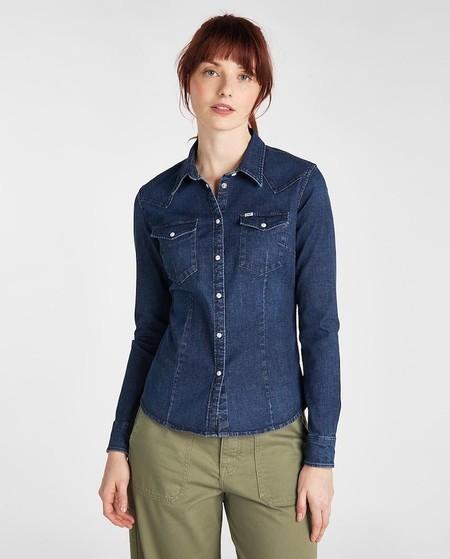 Camisa de mujer vaquera en azul