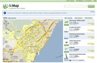 IkiMap, un servicio web para compartir mapas