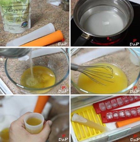 Cómo hacer un polo helado de maracuyá