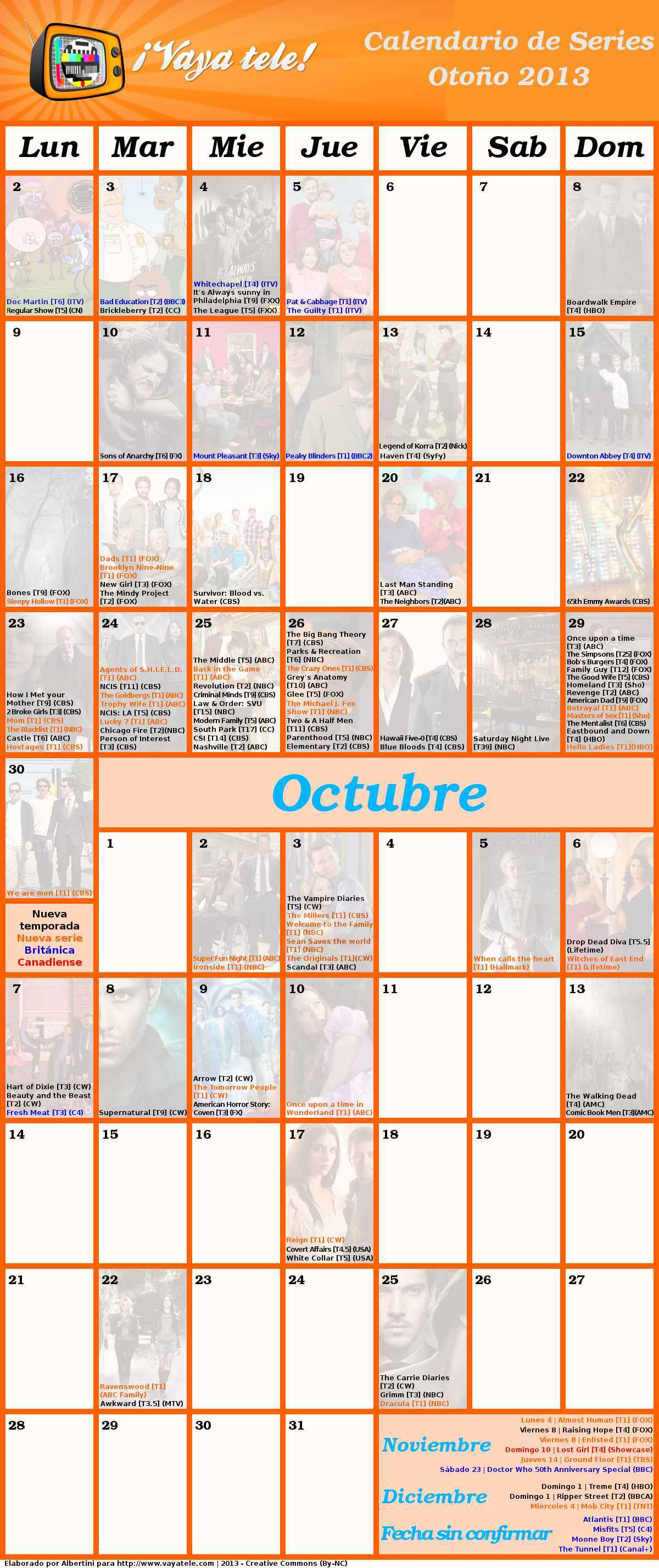 Foto de Calendario Otoño 2013 (1/2)