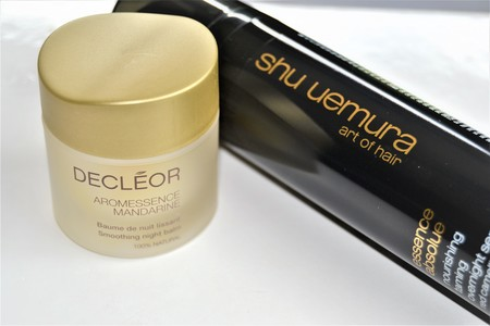Probamos un cóctel nocturno para piel y cabello: Sérum capilar de Shu Uemura + Bálsamo alisante de Decléor