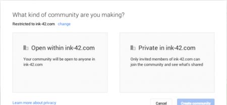 Google+ estrena comunidades privadas, directamente enfocadas a la empresa
