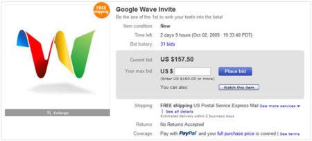Compra-venta de invitaciones para Google Wave