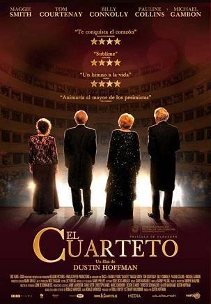 Imagen con el cartel de 'El cuarteto'